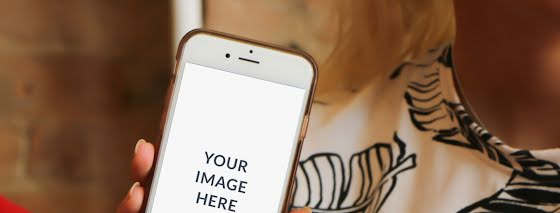 Fashion Phone Mockup - Facebook Page Cover Template