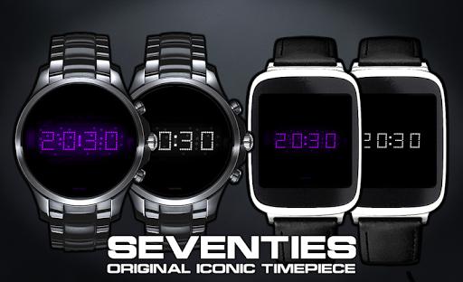 Download LED watch face   Vintage   Seventies Amethyst MOD APK 3