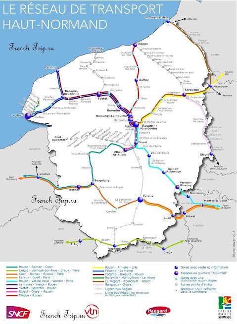 Схема маршрутов поездов по