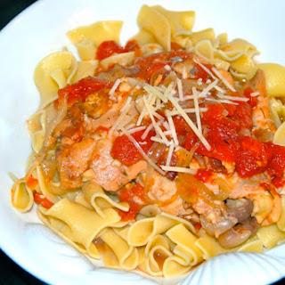 Crock Pot Wine & Tomato Braised Chicken.