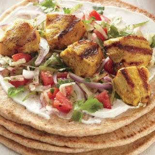 Indian Spiced Turkey Kabob Pitas