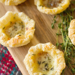 Easy Fig and Cheese Tartlets.