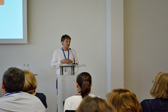 Photo: #eden14 Olaf Zawacki-Richter gives his keynote speech on Day 3 Photo by SRCE