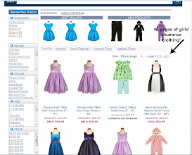 Photo: My initial search of girls' fashions in the clearance section resulted in 42 pages!