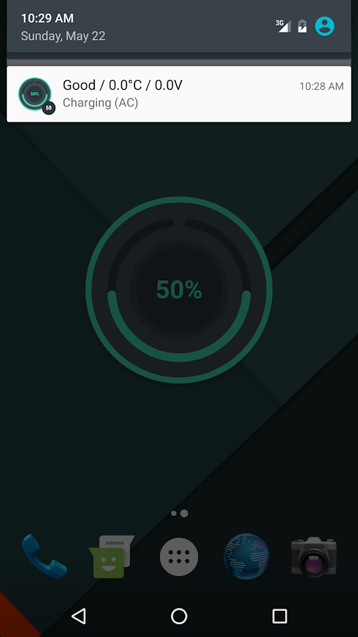 Beautiful Battery Disc Widget- screenshot