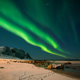 Aurora by Wily Mikalsen - Landscapes Mountains & Hills