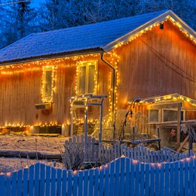 Christmas lights  by Johannes Mikkelsen - Public Holidays Christmas ( lights, winter, snow, christmas, glow )