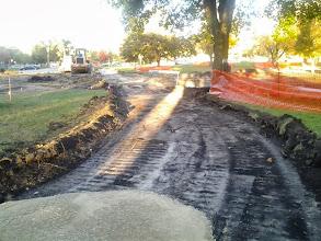 Photo: Excavated path 10-22-2013