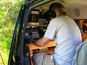 Photo: Andy K1RA operating K8GP/R V/UHF station FN00WA - ARRL June VHF 2014