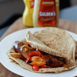 Grilled Italian Chicken Sausage and Pepper Pitas