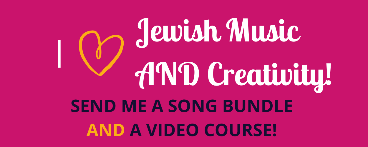 I love Jewish music AND creativity!