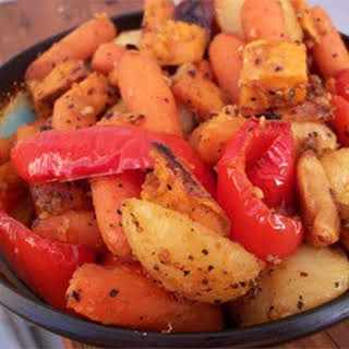 Absolutely Delicious Baked Root Vegetables.