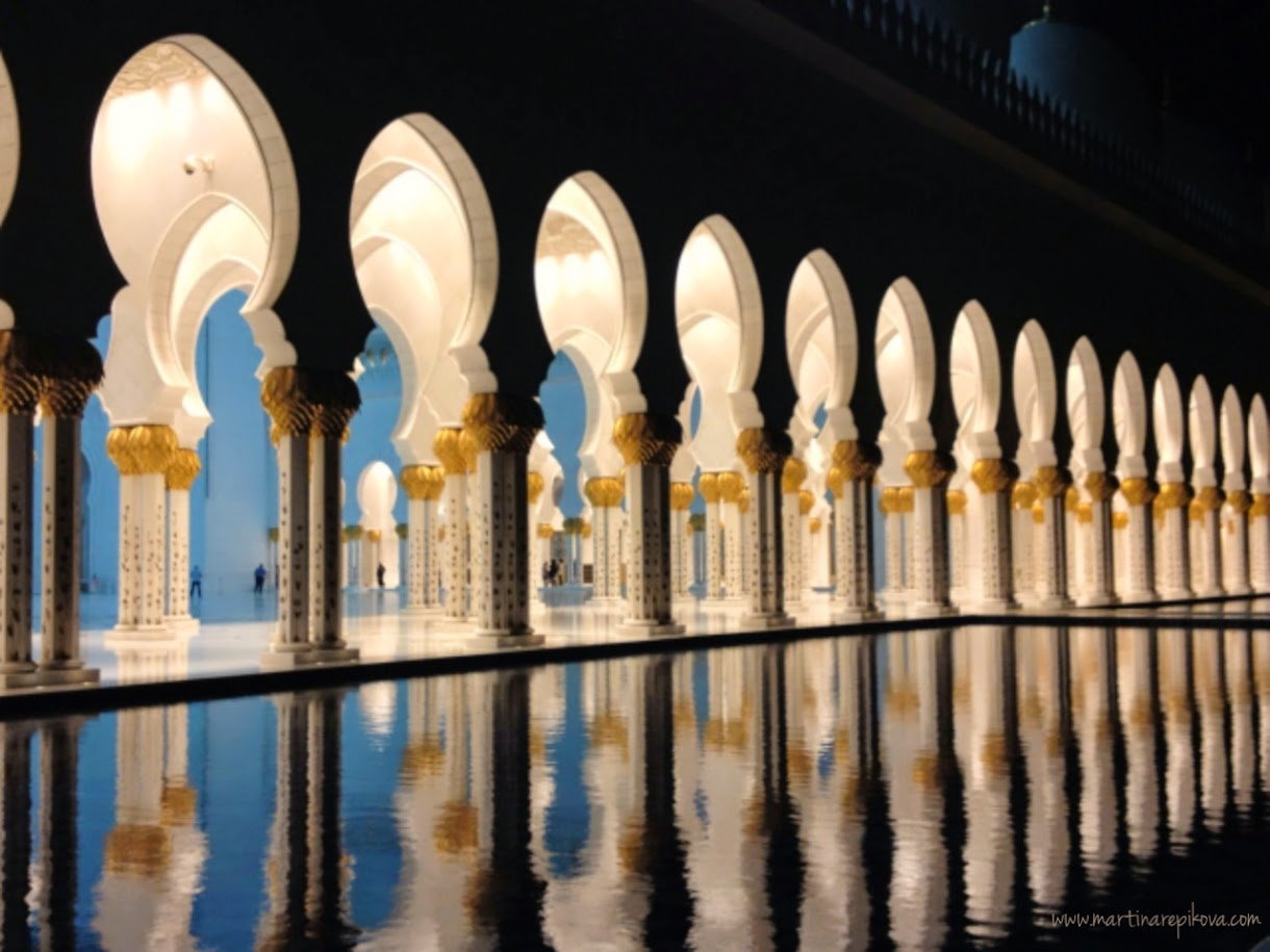 Reflections at Sheikh Zayed Mosque, Abu Dhabi, UAE