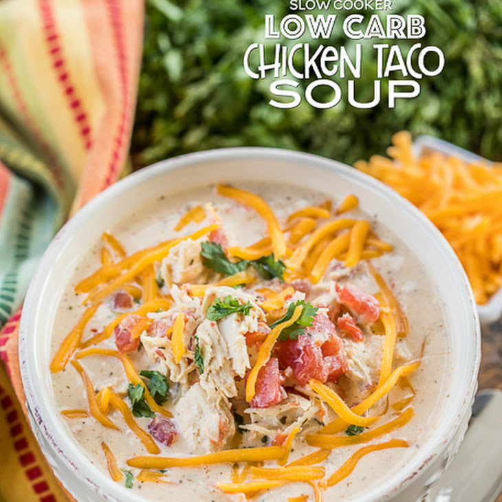 Low Carb Chicken Taco Soup Recipe