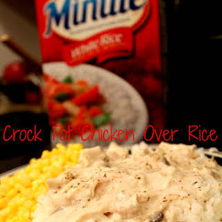 Crock Pot Chicken Over Rice {My Families Fav Recipe!}.