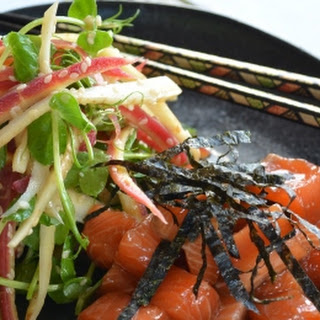 Marinated Raw Salmon With Carrot Salad