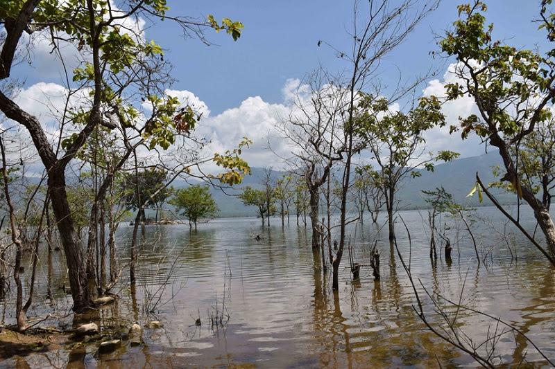Bên bờ Hồ Song Sắt, với những ngọn gió mát làm dịu đi cái nắng bỏng gắt ngoài kia.
