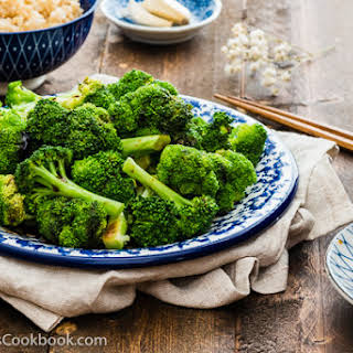 Cantonese Broccoli with Oyster Sauce.