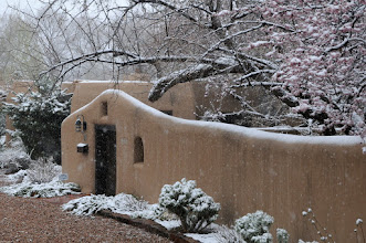 Photo: Santa Fe home in snow  4/17/09