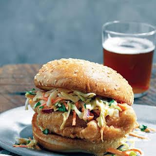 Beer-Battered Chicken Sandwich.