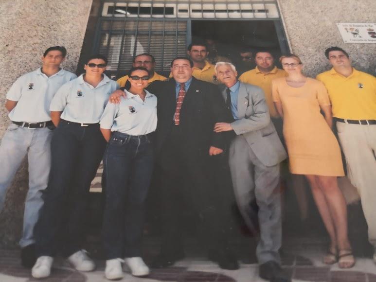 Antonio Jiménez y el equipo de la Delegación de Deportes de Roquetas de Mar.