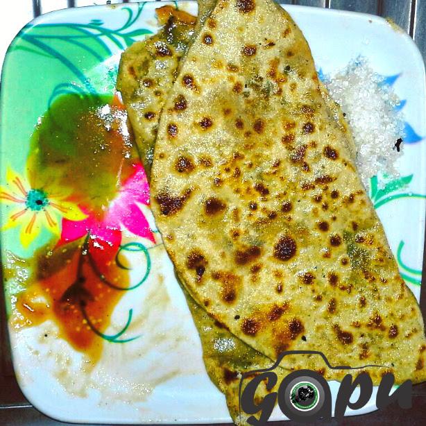 Potato Paratha and Chatni