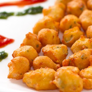 Mungode – Split moong bean fritters.