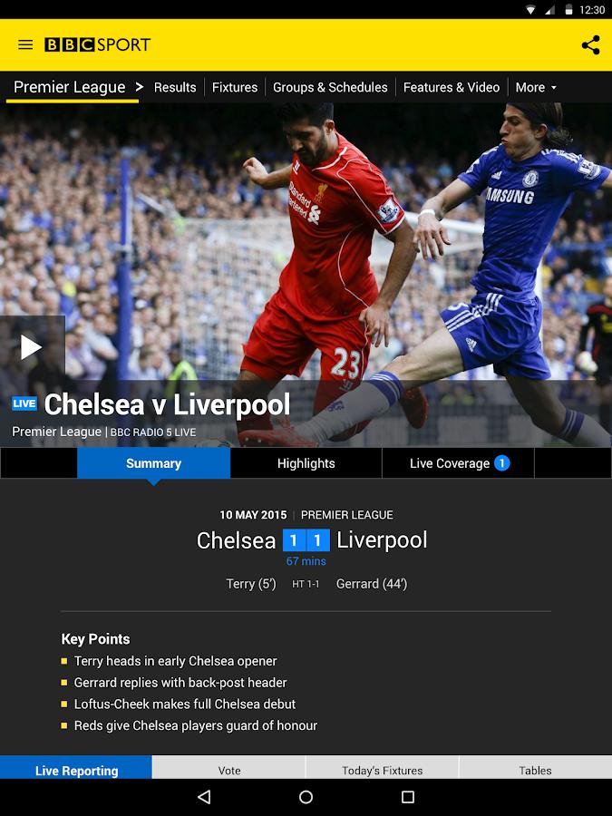 BBC Sport- screenshot
