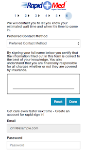 Rapid Med - Patient Sign In- screenshot thumbnail