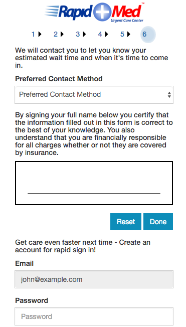 Rapid Med - Patient Sign In- screenshot