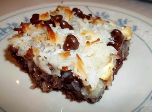 "Click Here for Recipe: German Chocolate Chip Bars ""Wow, all I can..."