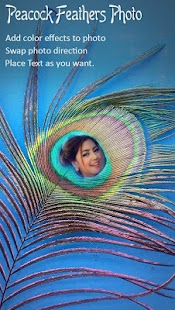Peacock Feather Photo Frame - náhled