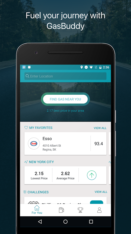 Screenshots of GasBuddy: Find Cheap Gas for iPhone