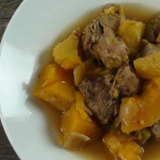 Pork And Butternut Squash Stew.