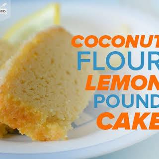 Coconut Flour Lemon Pound Cake.