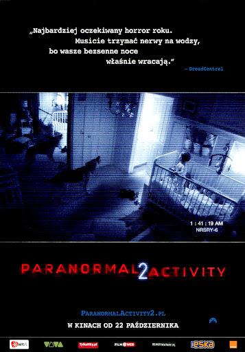 Przód ulotki filmu 'Paranormal Activity 2'