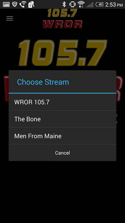 105.7 WROR- screenshot
