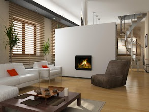 Photo: modern private interior (3D rendering)