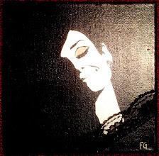 """Photo: Audrey Hepburn photographed by Douglas Kirkland, at the Studio de Bolougne, Paris, during the making of """"How to Steal a Million"""", November 1965  20x20cm  Soggetto realizzato con stencil fatto a mano, colori acrilici spray, pizzo, brillantini bianchi iridescanti, strass di resina su tela.  Subject made with handmade stencil with spray acrylic colours, lace, white iridescent glitter, resin strass on canvas.  Per informazioni e prezzi: manualedelrisveglio@gmail.com  NON DISPONIBILE"""
