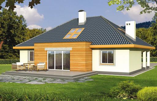 projekt Bartek wersja B z pojedynczym garażem