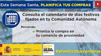La etiqueta #planificatuscompras se utilizará en redes sociales para desarrollar esta campaña.