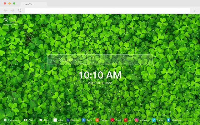 Clover New Tab Page Top Wallpapers Themes