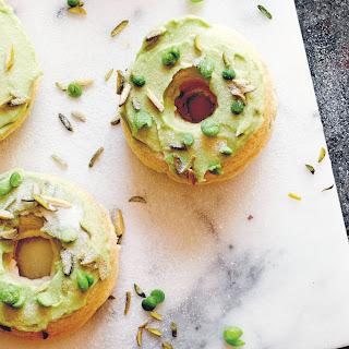 Baked Vanilla + Pea Donuts.
