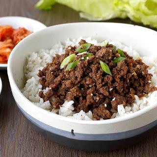 Easy Ground Beef Bulgogi.