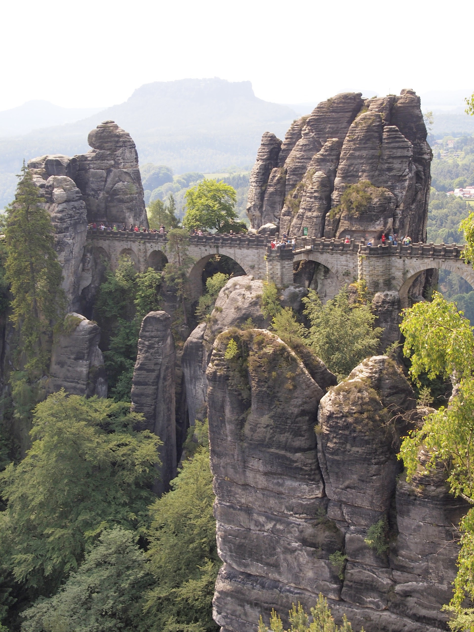 The famous Bastei bridge that's on every postcard sold here.