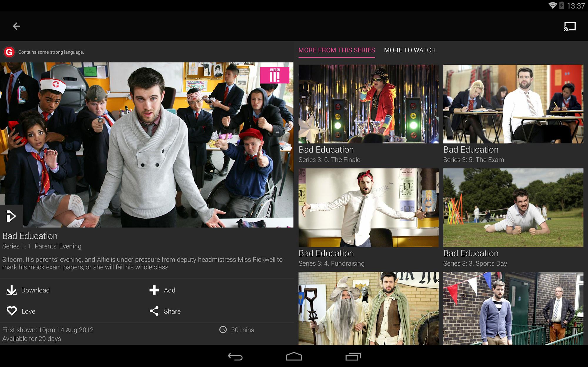 BBC iPlayer screenshot #15