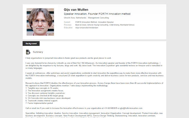 Linkedin CV converts any Linkedin profile into a printable CV.