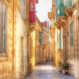 malta by Betty Taylor - City,  Street & Park  Street Scenes ( street scene, street, street photo, streetscape, street photography )