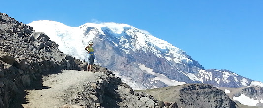 Photo: The next day (Sunday, August 18 - 2013), Mardi and I drove over to the NE side of Rainier and hiked up to Burroughs Mountain (From Sunrise).