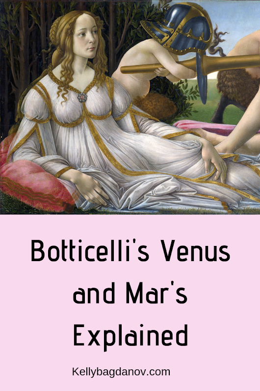 Explanation of all of the symbolism in this beautiful painting of Venus and Mars by Sandro Botticelli. #kellybagdanov #homeschool #homeschooling #arthistory #arthistoryresource #charlottemasonresource #classicalconversationresource #sonlightresource #storyoftheworldresource #Botticelli #teaching Botticelli #venusandmars #mythology